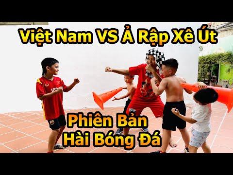 ĐT Việt Nam VS Ả Rập Xê Út phiên bản bóng đá đời thực siêu hài , Messi Nhí Cubi 100 chấp 3 cầu thủ