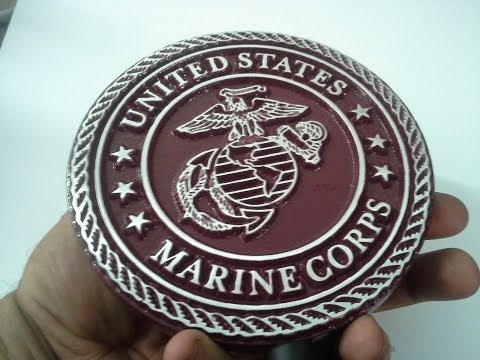 Aluminum Casting USMC Plaque for my DAD - Fathers Day 2014