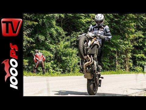 Yamaha MT-09 Street Rally Vergleich MT-07 | Testvideo- Stunt- Action - Sound