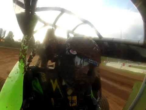 Blake Darcy Wingless Sprint At Sydney Speedway RUN'S OUT OF TEAR OFF'S SO FUNNY