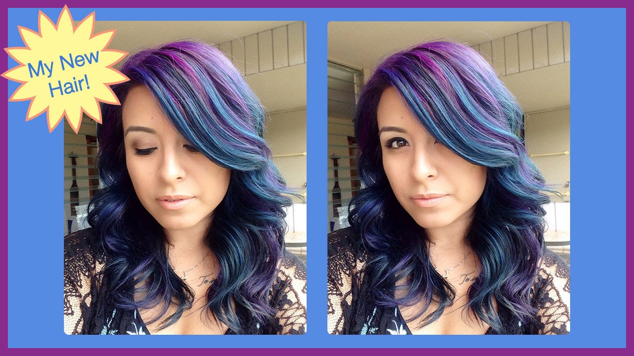 How I Color My Hair Blue and Purple: Full Tutorial! | ChromaCrowns ...