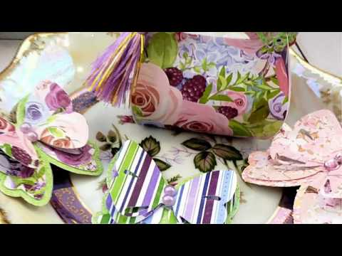 AlinaCraft DT Project Share -- Spring Basket And  Gift Box#alinacutle #aliexpress
