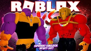 ROBLOX - SUPERHERO SIM, THANOS vs INFINITY ROPO!!
