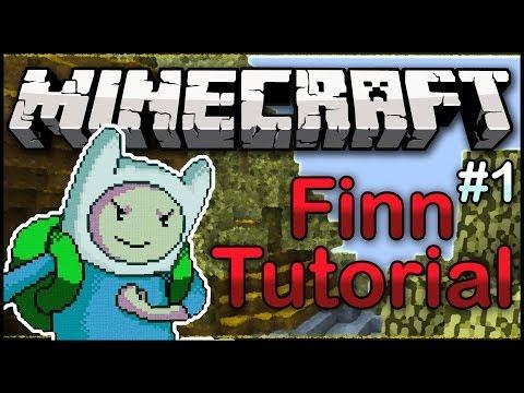 Minecraft Pixel Art: Finn Adventure Time Tutorial