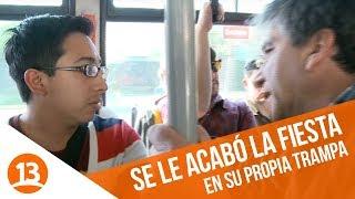Tío Emilio sorprende a lanzas en la micro | En su propia trampa | Temporada 2014
