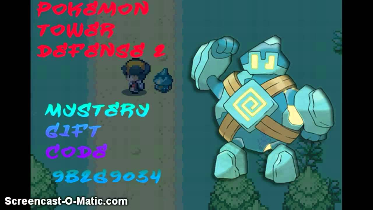Pokemon Tower Defense Golett Mystery Gift Code - YouTube