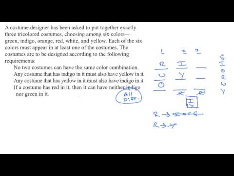 Grouping setup overview | Example | Analytical Reasoning | LSAT | Khan Academy