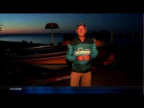 Richland Chambers Lake TX Night Bass Fishing Southwest Outdoors Report #21 - 2012 Season