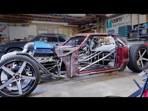 Fox Body Hot Rod Build | Making Strut Towers and the Body Comes Off