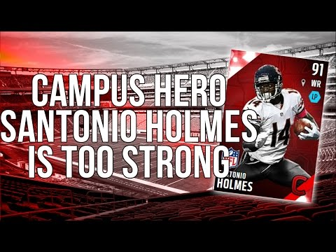 Madden 16 Draft Champions :: Campus Hero Santonio Holmes is TOO strong!-Madden 16 Ultimate Team