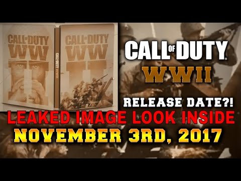 😜 Call of Duty: WW2 REAL ONE LEAKED Image And Release Dates 2017😍