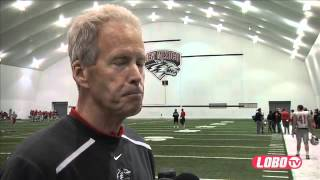 2012 Lobo Football | Coach Bob Davie: Spring Football Post-Practice Report