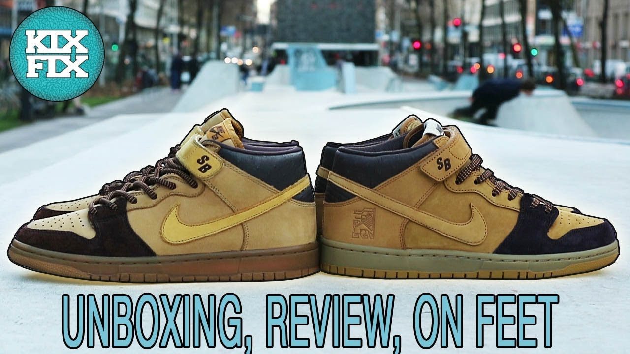 premium selection 6c1d8 58f40 NIKE SB DUNK MID LEWIS MARNELL UNBOXING, REVIEW, ON FEET #11 KIXFIX