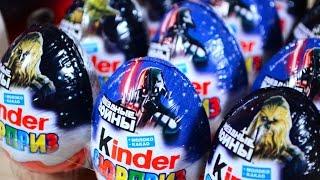 Киндер Сюрприз Звездные Войны на русском языке Эпизод 7 Star Wars Episode 7 Kinder Surprise Unboxing