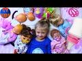 Playing Baby Born & Reborn Dolls Играем с Куклами Беби Бон укладываем спать Малышей Видео для детей