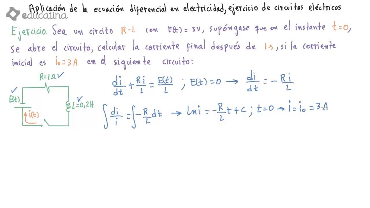 Circuito Rlc Serie Ejercicios Resueltos : Circuitos electricos ecuaciones diferenciales ejercicios