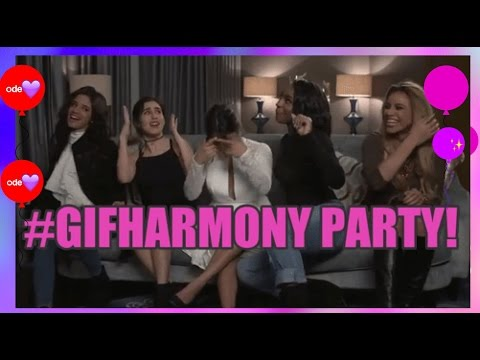 FIFTH HARMONY: Girls do their best GIF faces #GIFHARMONY PARTY