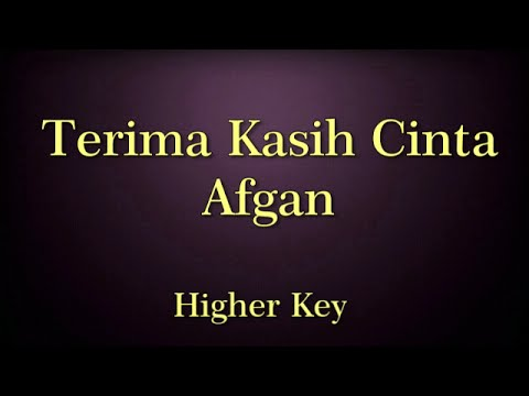 Terima Kasih Cinta Afgan Karaoke Higher Key