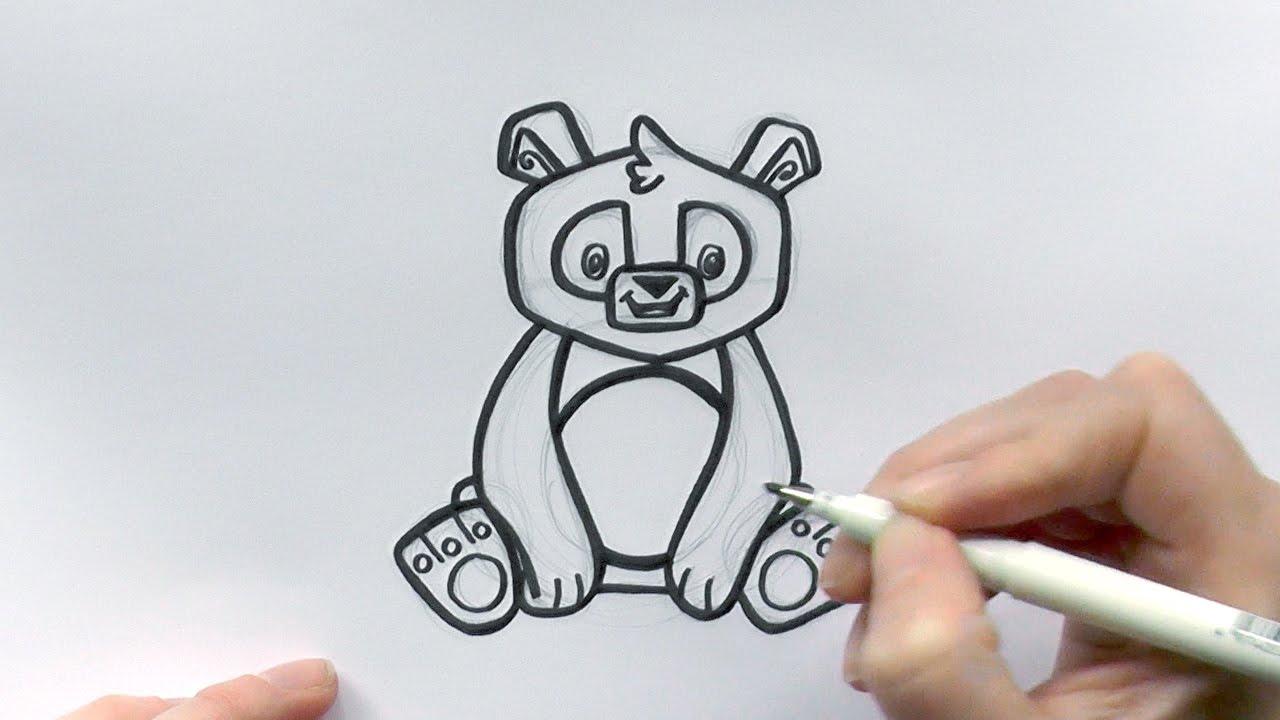 How To Draw A Cartoon Panda From Animal Jam  Zooshii Style