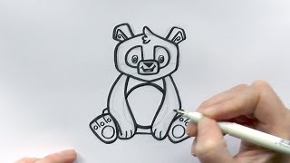 How to Draw a Cartoon Panda From Animal Jam - zooshii Style