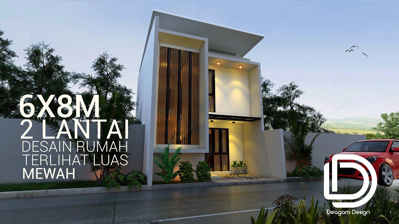 Desain Rumah 6x8 M 2 Lantai Youtube