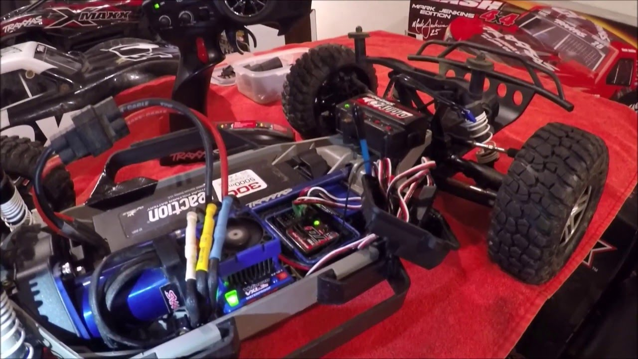 maxresdefault how to link a traxxas tqi 2 4ghz radio & receiver youtube traxxas tqi receiver wiring diagram at virtualis.co