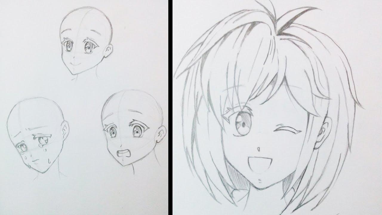 Como Desenhar Manga Expressoes Femininas 1 Youtube