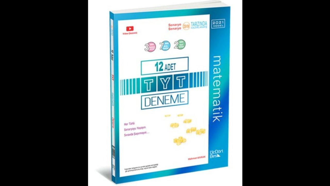 345 YAYINLARI 2021 basım TYT MATEMATİK 12'Lİ DENEME ÇÖZÜMLERİ 3. deneme çözümü