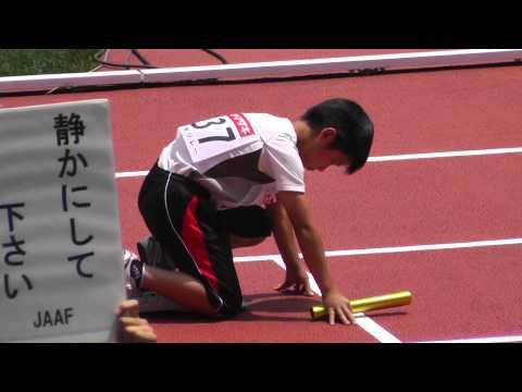 小学生男子(調布市)4x100mR リレー 第2組 日本陸上 サブイベント 2013.6.9
