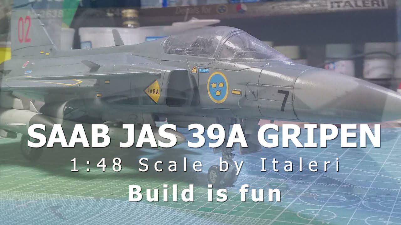 Italeri Jas 39 A Gripen 1//48 Aircraft Kit 2638
