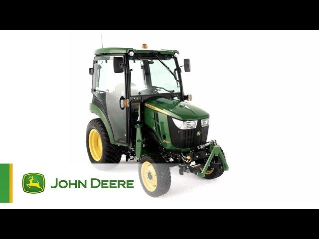Trattore compatto 2036R John Deere - Rende più facile essere multi-tasking