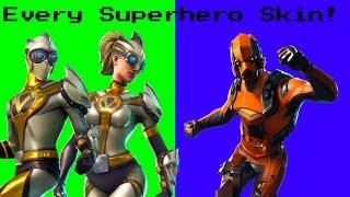 Ranking *EVERY SUPERHERO SKIN* In Fortnite: Battle Royale!