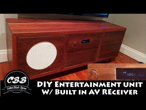 DIY Entertainment Unit w/ Build in AV Receiver
