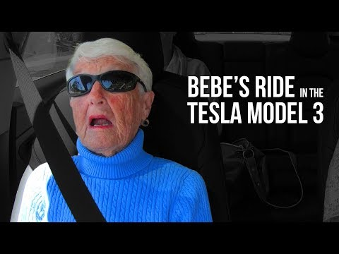 Bebe's Ride In The Tesla Model 3