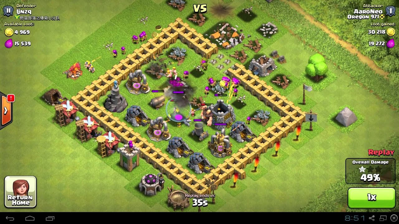 Best town hall level 5 th5 raiding attack strategy 1300 trophies