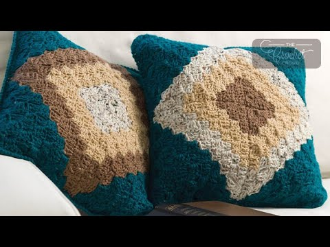 How to Crochet A Pillow: Corner to Corner C2C - YouTube
