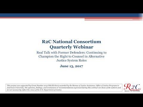 R2C National Consortium Quarterly Webinar (June 2017)