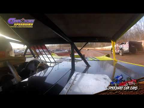 #10 Scott Shirey - Super Late Model - Heat & Feature - 1-26-20 Cherokee Speedway - In-Car Camera