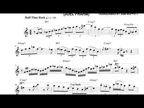 "Joel Frahm - ""When I Was a Child"" (Solo Transcription)"