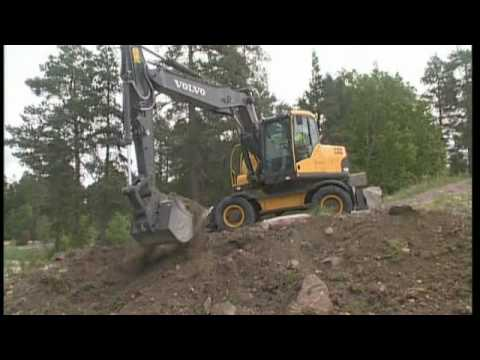 How to work on slopes with a Volvo Wheeled Excavator (Part 10 of 16)