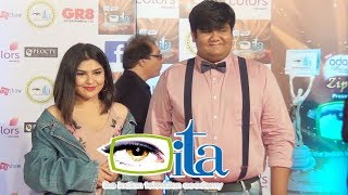Needhi Bhanushali & Kush Shah At ITA Awards 2017   17th Indian Television Academy Awards
