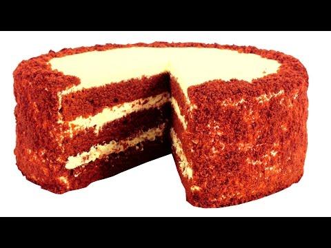 Торт Красный бархат. Пошаговый видео рецепт.