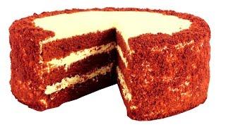 """Торт """"Красный бархат"""". Пошаговый видео рецепт."""