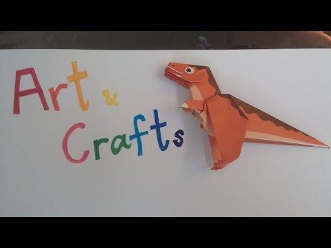 ORIGAMI - how to fold Dinosaur Tyrannosaurus (part 1) Body