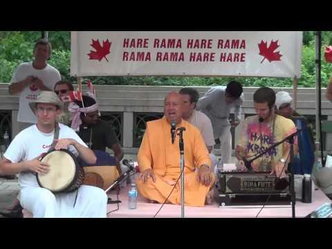 Canada day Harinama in Ottawa with HH Bhaktimarga Swami -2014