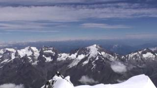 360 degree panorama from the summit of Dom de Mischabel