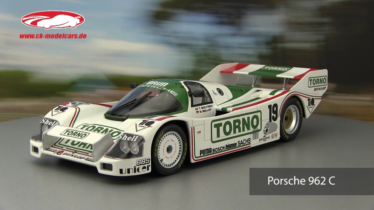 Boutsen 1:18 Norev Porsche 962 C #19 3rd 1000km Mugello 1985 Bellof