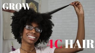 How To Grow 4C Natural Hair Long & Healthy! ⇢  PrettyLittleFro