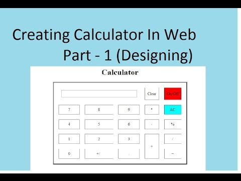 Part-1 Creating Calculator In HTML