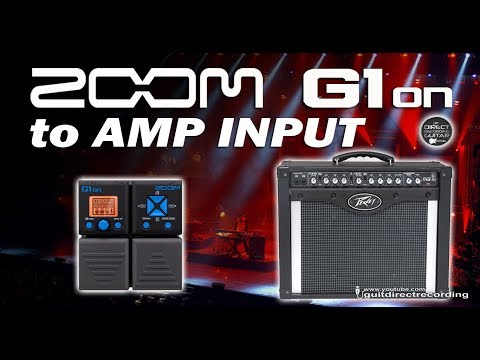 ZOOM G1on to AMP INPUT - G1xon Clean, Chorus, OD and Distortion [Free Settings].
